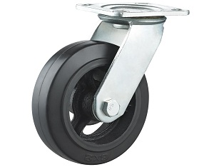 Rubber on Cast Iron Caster Swivel